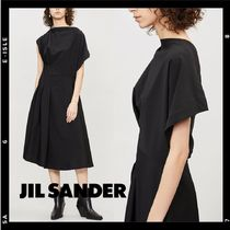 日本未入荷【JIl Sander】asymmetric wool-blend dress