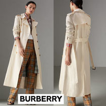 [BURBERRY SALE] Cotton Linen Canvas Trench Coat★off white