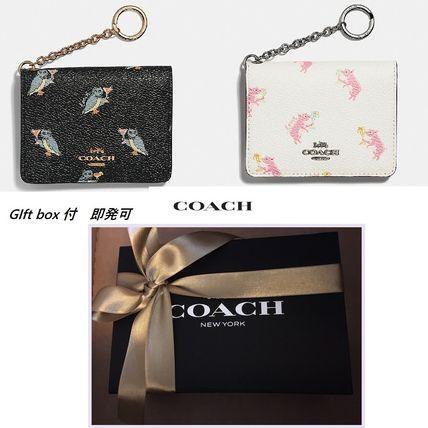 即発OK★Coach ★Key Ring Card Case  gift box 付(2選択)