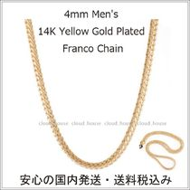 送料込【King Ice】4mm 14K Yellow Gold Franco Chain/国内発送