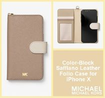 [セール]マイケルコース☆Color-Block Saffiano iPhone X