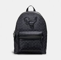 Coach ◆67851 Academy backpack in signature canvas with rexy