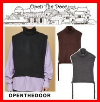 ☆人気☆【OPEN THE DOOR】☆Layered Turtleneck Vest☆3色☆