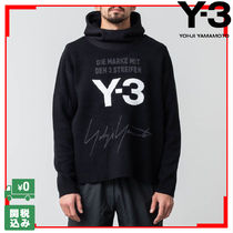 Y-3 ワイスリー STACKED HOODED ニットパーカー ロゴ 関税送料込
