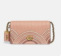 Coach ◆68813 Dinky with colorblock deco quilting and rivets