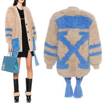 18-19AW OW074 LOOP KNIT CARDIGAN WITH TASSEL