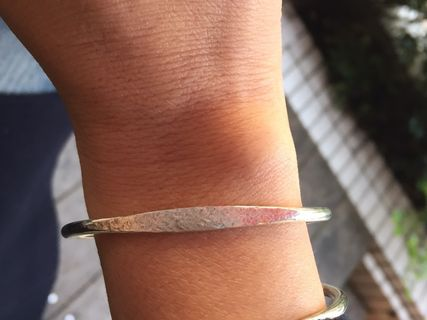 Hammered Surface Sterling Silver925 Bangle B01
