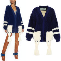 18-19AW OW075 LOOP KNIT CARDIGAN WITH TASSEL