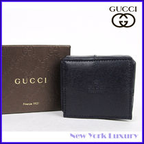 GUCCI★グッチ★素敵!Navy Coin Pokect w/Inner Paisley Design