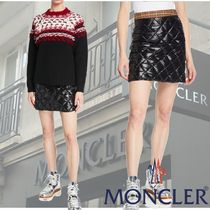 MONCLER★スタイリッシュなQuiltedダウン スカートBlack