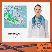 [HERMES] アメリカ限定!! The Battery New York Scarf 90