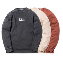 Kith PIGMENT DYED SERIF LOGO L/S ロンT