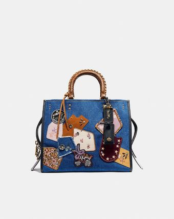 セール coach Rogue With Patchwork And Snakeskin  29234