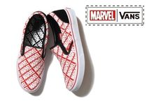 ☆国内正規品 送料無料☆VANS MARVEL SLIP ON V98 MARVEL LOGO