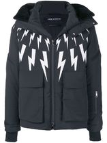 NeIL Barrett(ニールバレット) ブルゾン ∞∞NeIL Barrett∞∞ lightning-bolt print hooded jacket