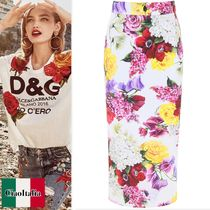 Dolce & Gabbana Floral Printed Pencil Skirt