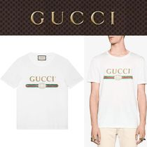 White Gucci Print T-Shirt In Cotton By Gucci