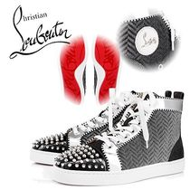19SS未入荷☆ルブタン☆COOLモノトーン!Lou Spikes スニーカー
