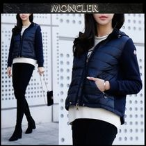 【MONCLER】18AW 異素材MIX ジップアップブルゾン NAVY/EMS直送