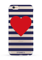 IPHORIA(アイフォリア) トラベル小物 IPHORIA ☆Stripy Heart Transparent for iPHONE 7 R610 82289