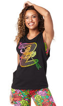 ◆12月新作◆Zumba Love Muscle Tank(Bold Black)