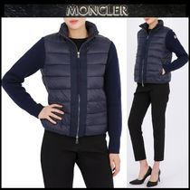 【MONCLER】18AW 異素材MIX ロゴパッチ ブルゾン NAVY/EMS
