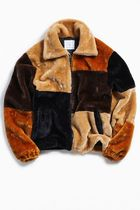 ★人気商品★ UO Patchwork Faux Fur Jacket ★日本未入荷★