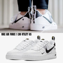 NIKE★AIR FORCE 1 LV8 UTILITY GS★ロゴ★22.5~25cm