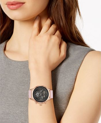793292b01bf4 ... Michael Kors デジタル腕時計 MKT5048 Access Runway Pink Silicone Strap  Touchscreen Smart(2) ...