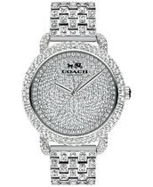 14502364 Crystal Accent Stainless Steel Bracelet Watch 36MM