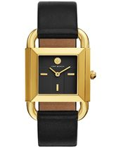 TBW7202 Phipps Black Leather Strap Watch 29x41mm