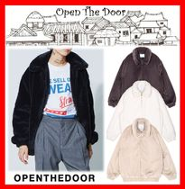 ★韓国の人気★【OPEN THE DOOR】★Fur Zip-Up Jacket★4色★