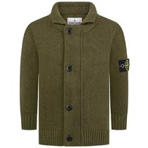 Boys Khaki Knitted Cardigan