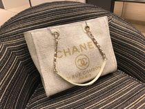 Chanel♡DeauvilleトートIVORY♡M size