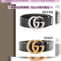 ◆GUCCI◆ GG MARMONTベルト SILVER GOLD 2カラ−