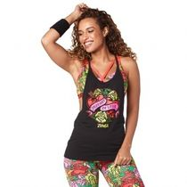 ★国内発送★ ズンバ Zumba Celebrate Love Tank Bold Black