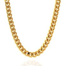 【King Ice】8mm 14K Gold Miami Cuban Curb Chain☆送料税込