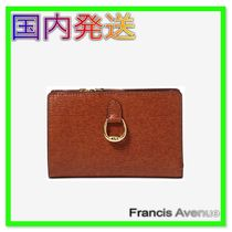 国内発 Lauren Ralph Lauren Bennington Compact Wallet Brown