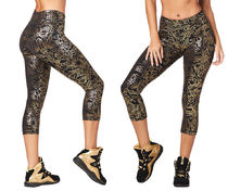 ★国内発送★ ズンバ Love Metallic Capri Leggings Bold Black