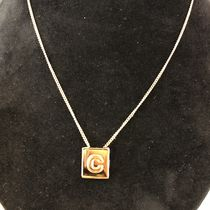 "【CELINE】2019SS新作 ALPHABET ""C"" NECKLACE GOLD FINISH"