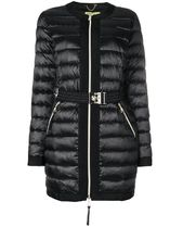 ∞∞VERSACE∞∞ belted padded jacket☆ブラック