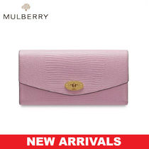 Mulberry リザード柄 長財布 Darley Wallet UK発 追跡有