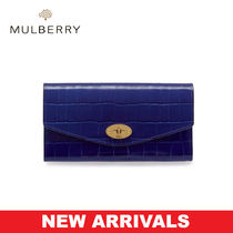 Mulberry クロコ柄 長財布 Darley Wallet UK発 追跡有