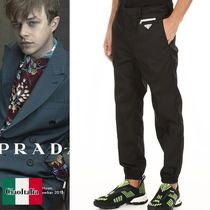 PRADA Trousers With Logo Triangle