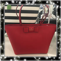 kate spade new york(ケイトスペード) トートバッグ 期間限定SALE★【Kate】人気おリボンの大きめトートバッグ2色♪