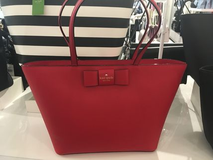 kate spade new york トートバッグ 期間限定SALE★【Kate】人気おリボンの大きめトートバッグ2色♪(2)