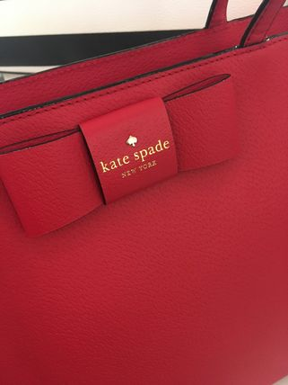 kate spade new york トートバッグ 期間限定SALE★【Kate】人気おリボンの大きめトートバッグ2色♪(3)