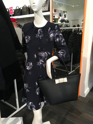 kate spade new york トートバッグ 期間限定SALE★【Kate】人気おリボンの大きめトートバッグ2色♪(6)