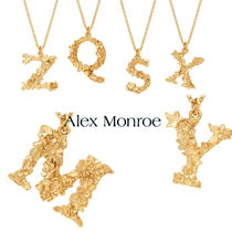 Alex Monroe(アレックス・モンロー) ネックレス・ペンダント ロンドンより☆ Alex Monroe☆ Floral Letter  Necklace