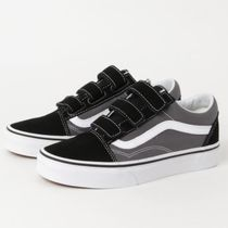 VANS☆ベルクロ Old Skool V pewter/black(22‐29㎝)VN0A3D29PBQ